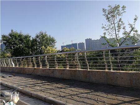 广州销售Q355D喷氟碳漆护栏抗冲击力强